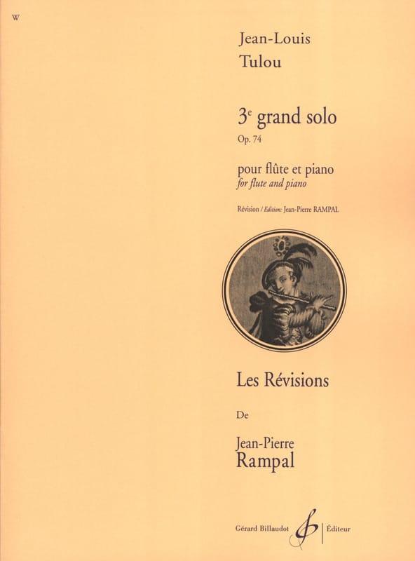 3ème Grand Solo Op. 74 - Jean-Louis Tulou - laflutedepan.com