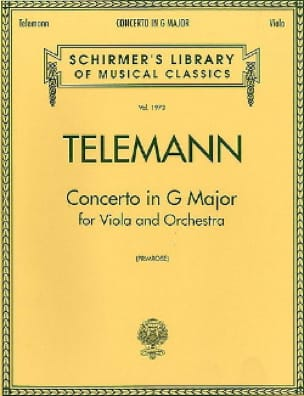 TELEMANN - Concerto in G major - Viola - Partition - di-arezzo.co.uk
