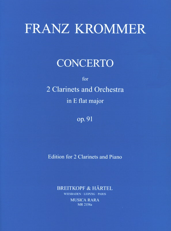 Franz Krommer - Concerto In Eb Op. 91 - 2 Clarinets Piano - Partition - di-arezzo.com