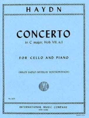 HAYDN - Concerto in C major, Hob. 7, No. 1 - Partition - di-arezzo.co.uk