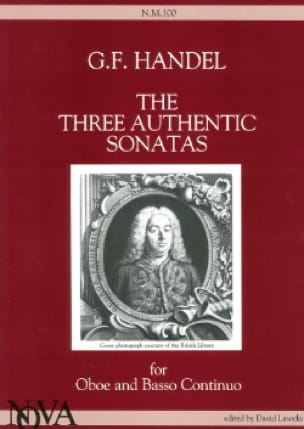 3 Authentic Sonatas - Oboe and Bc - HAENDEL - laflutedepan.com