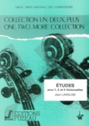Etudes pour 1, 2 et 4 Violoncelles - Jean Langlais - laflutedepan.com