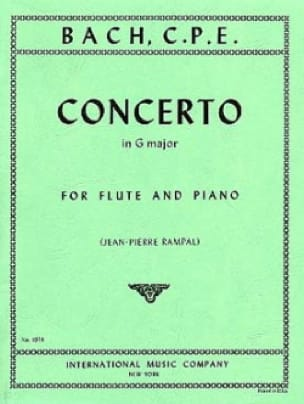 Carl Philipp Emanuel Bach - Concerto in G major Wq 169 - Piano flute - Partition - di-arezzo.co.uk