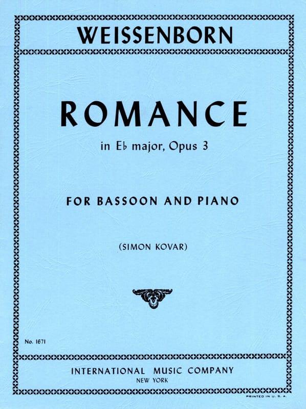 Romance in Eb major op. 3 - Julius Weissenborn - laflutedepan.com