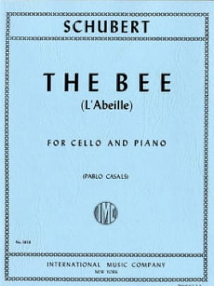SCHUBERT - The Bee Op. 13 No. 9 - Cello - Partition - di-arezzo.com