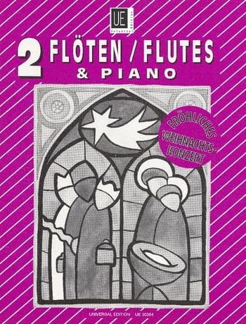 - Fröhliches Weihnachtskonzert - 2 Flöten Klavier - Partition - di-arezzo.co.uk