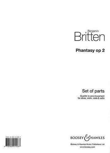 Phantasy Op. 2 - BRITTEN - Partition - Quatuors - laflutedepan.com