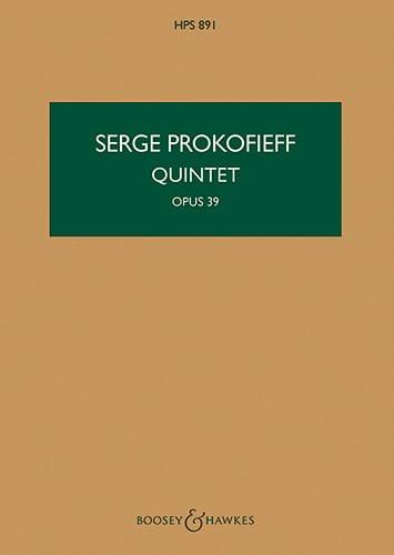 Serge Prokofiev - Quinteto op. 39 - Puntuación - Partition - di-arezzo.es