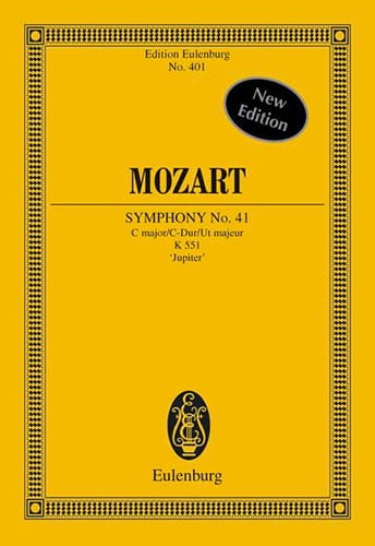 MOZART - Symphony Nr. 41 C-Dur KV 551 Jupiter with Schlussfuge - Partitur - Partition - di-arezzo.co.uk