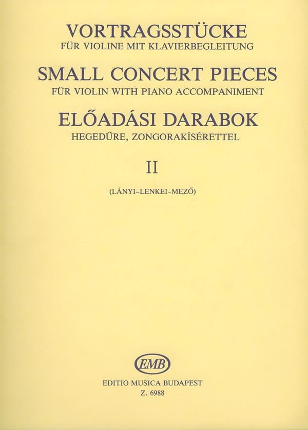 Small concert pieces, Volume 2 - laflutedepan.com