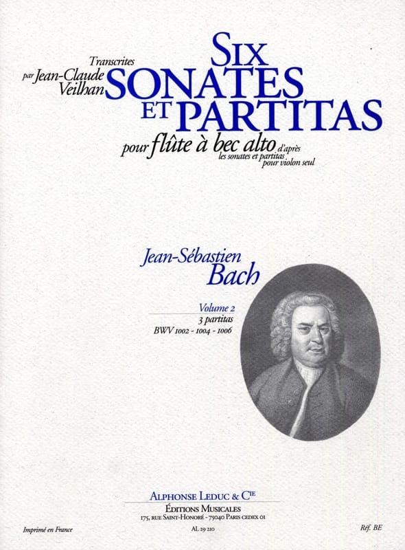6 Sonates et Partitas - Volume 2 - BACH - Partition - laflutedepan.com