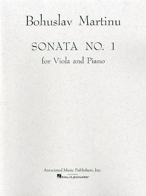 Bohuslav Martinu - Sonata No. 1 - Viola - Partition - di-arezzo.es