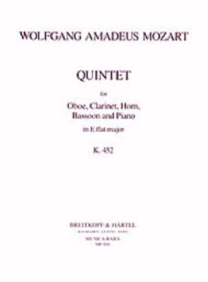 Quintet in Eb KV 452 -Oboe clarinet horn bassoon piano - laflutedepan.com
