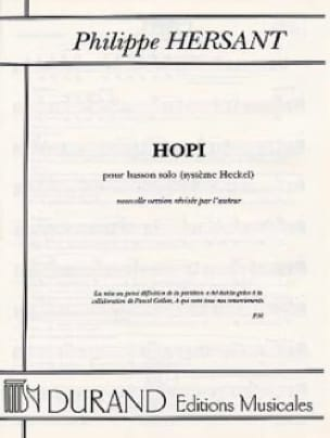 Hopi - Philippe Hersant - Partition - Basson - laflutedepan.com