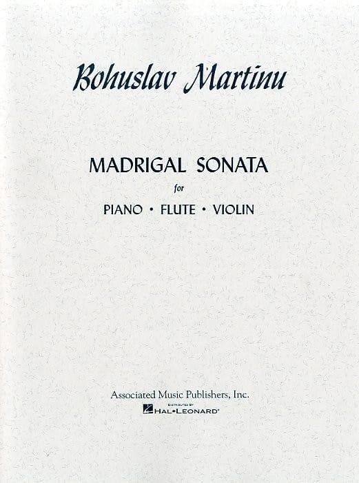 Madrigal Sonata - MARTINU - Partition - Trios - laflutedepan.com