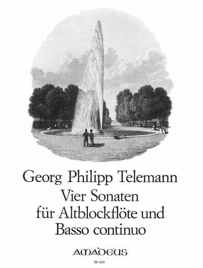 TELEMANN - 4 Sonaten - Altblockflöte u. Bc - Partition - di-arezzo.co.uk