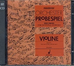 Oswald Kästner - Orchester probespiel CD, Bd. 2 - Violine - Partition - di-arezzo.co.uk