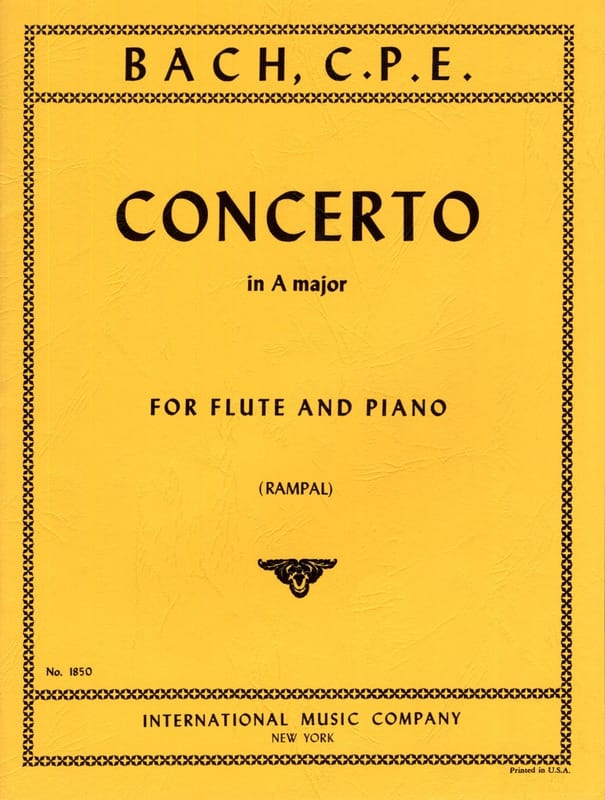 Carl Philipp Emanuel Bach - Concerto A major - Piano flute - Partition - di-arezzo.com