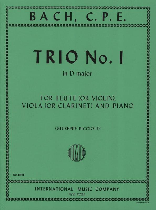 Trio n°1 D major -Flute violin viola clarinet piano - laflutedepan.com