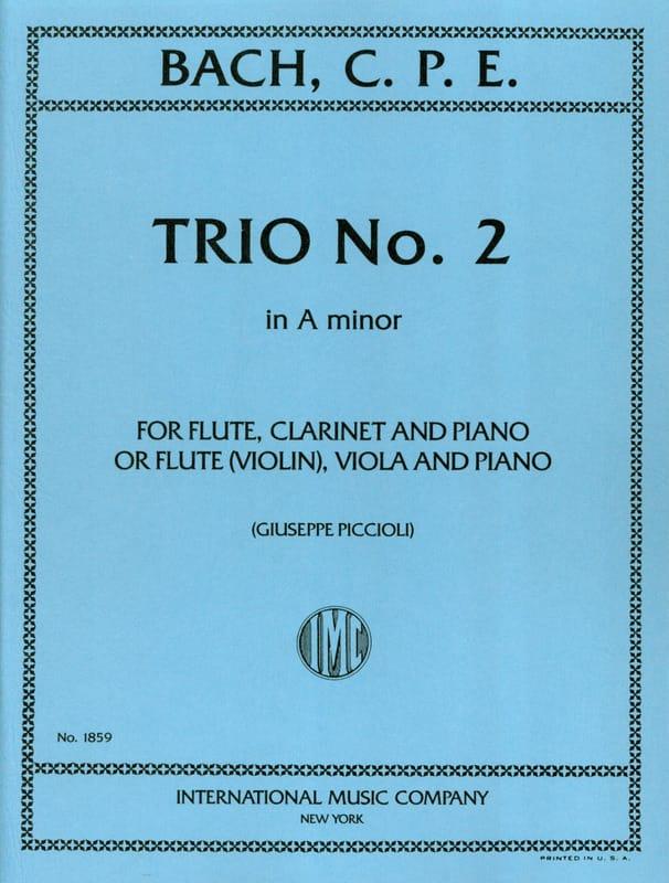 Carl Philipp Emanuel Bach - Trio n° 2 a minor -Flute violin clarinet viola piano - Partition - di-arezzo.fr