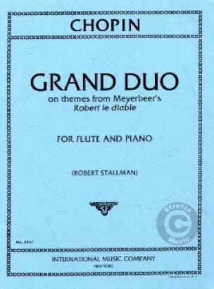 CHOPIN - Grand Duo - Piano Flute - Partition - di-arezzo.co.uk