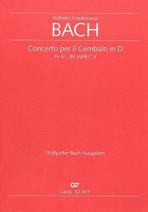 Concerto per il Cembalo in D Fk 41 / br wfb c 9 - Conducteur - laflutedepan.com