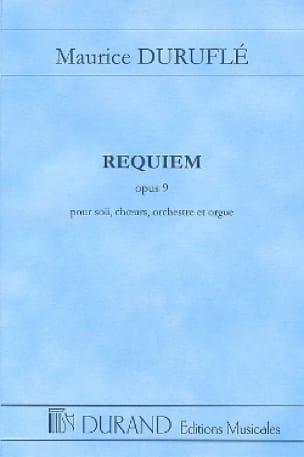 Requiem op. 9 - Conducteur - DURUFLÉ - Partition - laflutedepan.com
