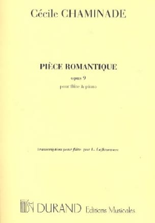 Cécile Chaminade - Romantic Piece, Op. 9 - Flute and Piano - Partition - di-arezzo.co.uk