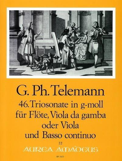 Triosonate Nr. 46 g-moll -Flöte, Viola da gamba o. Viola u. Bc - laflutedepan.com