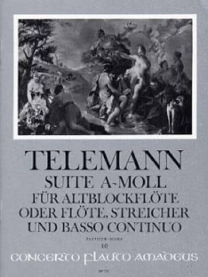 Suite En la Mineur - Conducteur - TELEMANN - laflutedepan.com