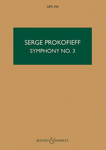 Symphonie n° 3 op. 44 - Score - Serge Prokofiev - laflutedepan.com