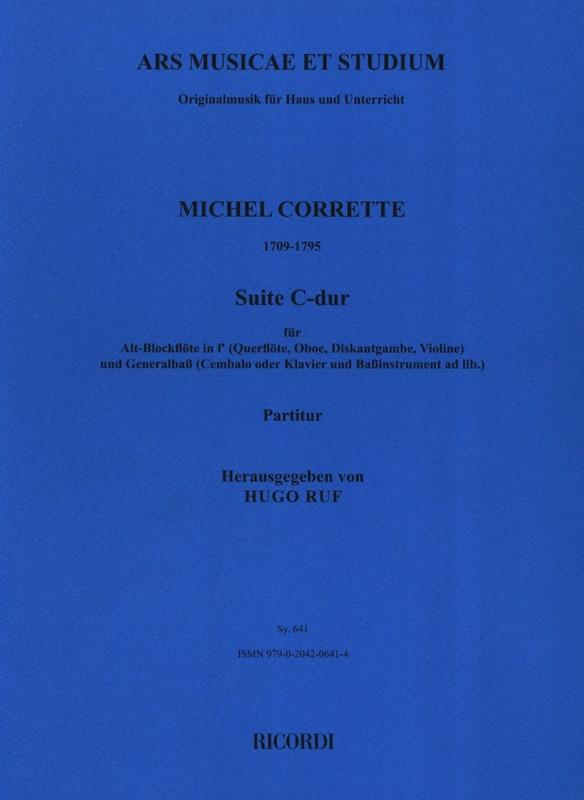 Suite C-Dur - Altblockflöte und Bc - CORRETTE - laflutedepan.com