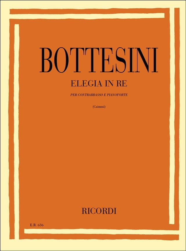 Giovanni Bottesini - Elegia in re - Partition - di-arezzo.co.uk