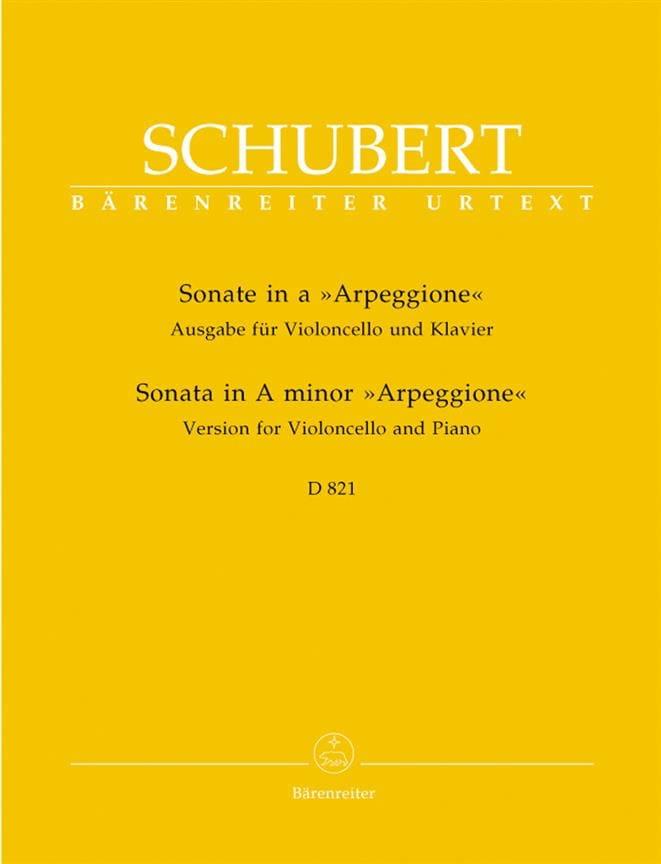 SCHUBERT - Sonata Arpeggione - Partition - di-arezzo.com