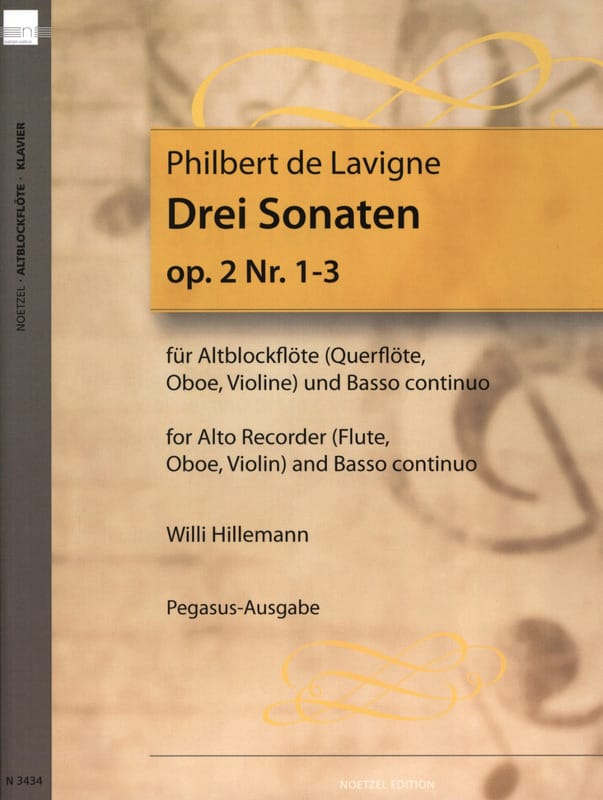 3 Sonaten op. 2 - Nr. 1-3 - Altblockflöte u. Bc - laflutedepan.com