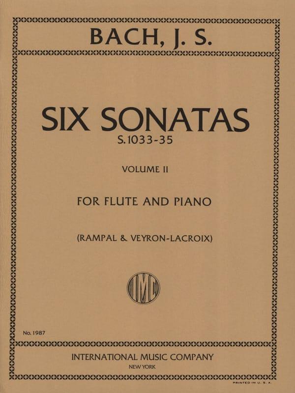 6 Sonatas - Volume 2 - Flûte piano - BACH - laflutedepan.com