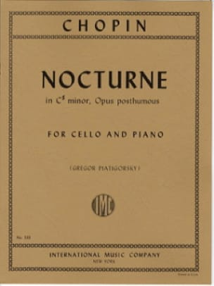 CHOPIN - Nocturne In C - Partition - di-arezzo.com