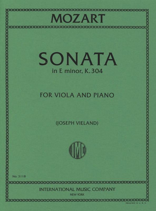 Sonata in E minor KV 304 - Viola - MOZART - laflutedepan.com