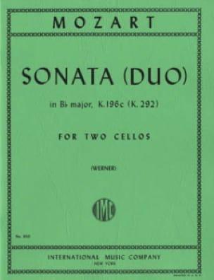 MOZART - Sonata Duo in Bb major - Partition - di-arezzo.fr