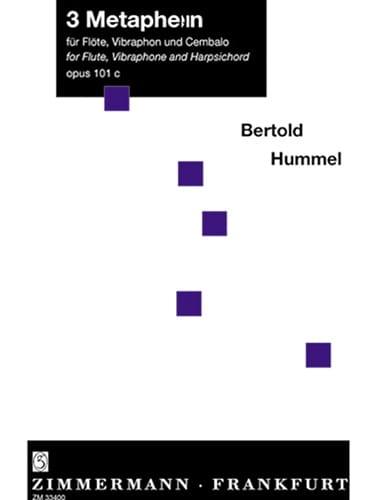 3 Metaphern op. 101c - HUMMEL - Partition - laflutedepan.com