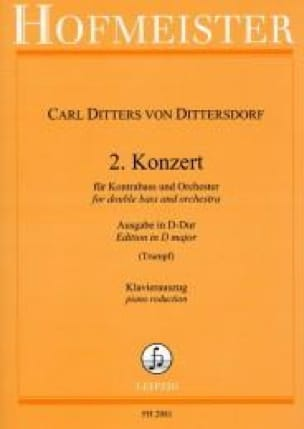 Carl Ditters von Dittersdorf - Konzert No. 2 in D-Dur - Kontrabass - Partition - di-arezzo.co.uk