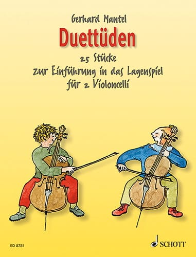 Duettüden - 2 Violoncelles - Gerhard Mantel - laflutedepan.com