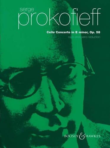 Serge Prokofiev - Cello Concerto E minor op. 58 - Partition - di-arezzo.co.uk