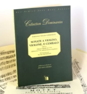 Francesco Saverio Geminiani - Sonata per violino, violone e cembalo op. 1 - Partition - di-arezzo.it