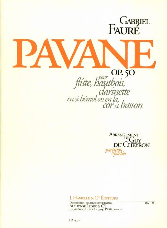 Pavane Opus 50 - FAURÉ - Partition - Quintettes - laflutedepan.com