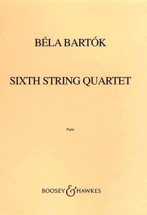 BARTOK - String Quartet No. 6 - Parts - Partition - di-arezzo.co.uk