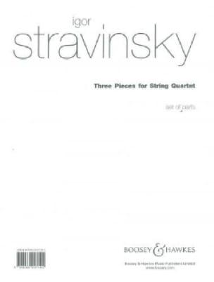 3 Pieces for String quartet - Parts - STRAVINSKY - laflutedepan.com