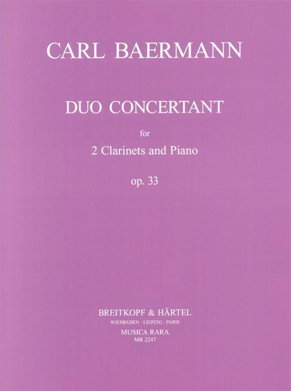 Duo concertant op. 33 -2 Clarinets piano - laflutedepan.com