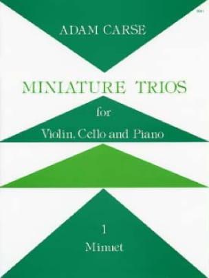 Miniature Trios 1. - Minuet - Adam Carse - laflutedepan.com