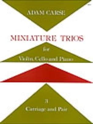 Miniature Trios 3. - Carriage and Pair - laflutedepan.com